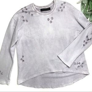 RELIGION CLOTHING sz S Distressed opulent sweater